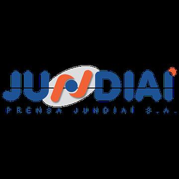 logotipo horizontal azul da prensa jundiaí
